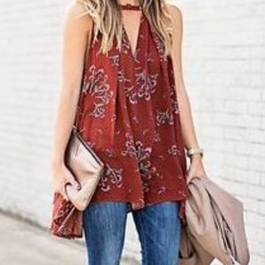Free People Sleeveless Tree Swing Tunic, Sz XS
